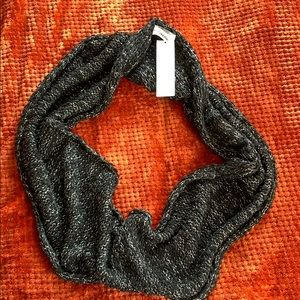 Calvin Klein Black and Silver Infinity Scarf